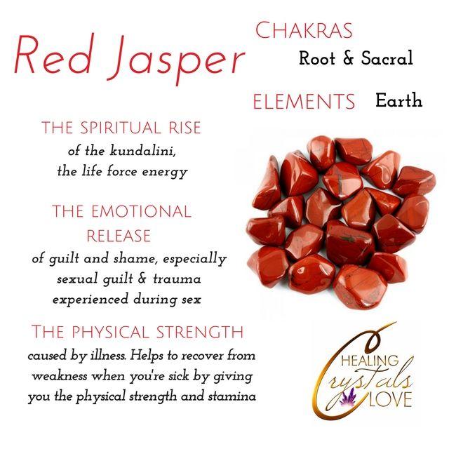 Red Jasper Tumblestones  12 Red Jasper CrystaLs with Crystal Card Gridding