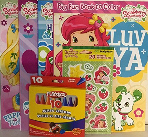 Gift Set #3 Strawberry Shortcake 4 Coloring Books Crayons Stickers ...