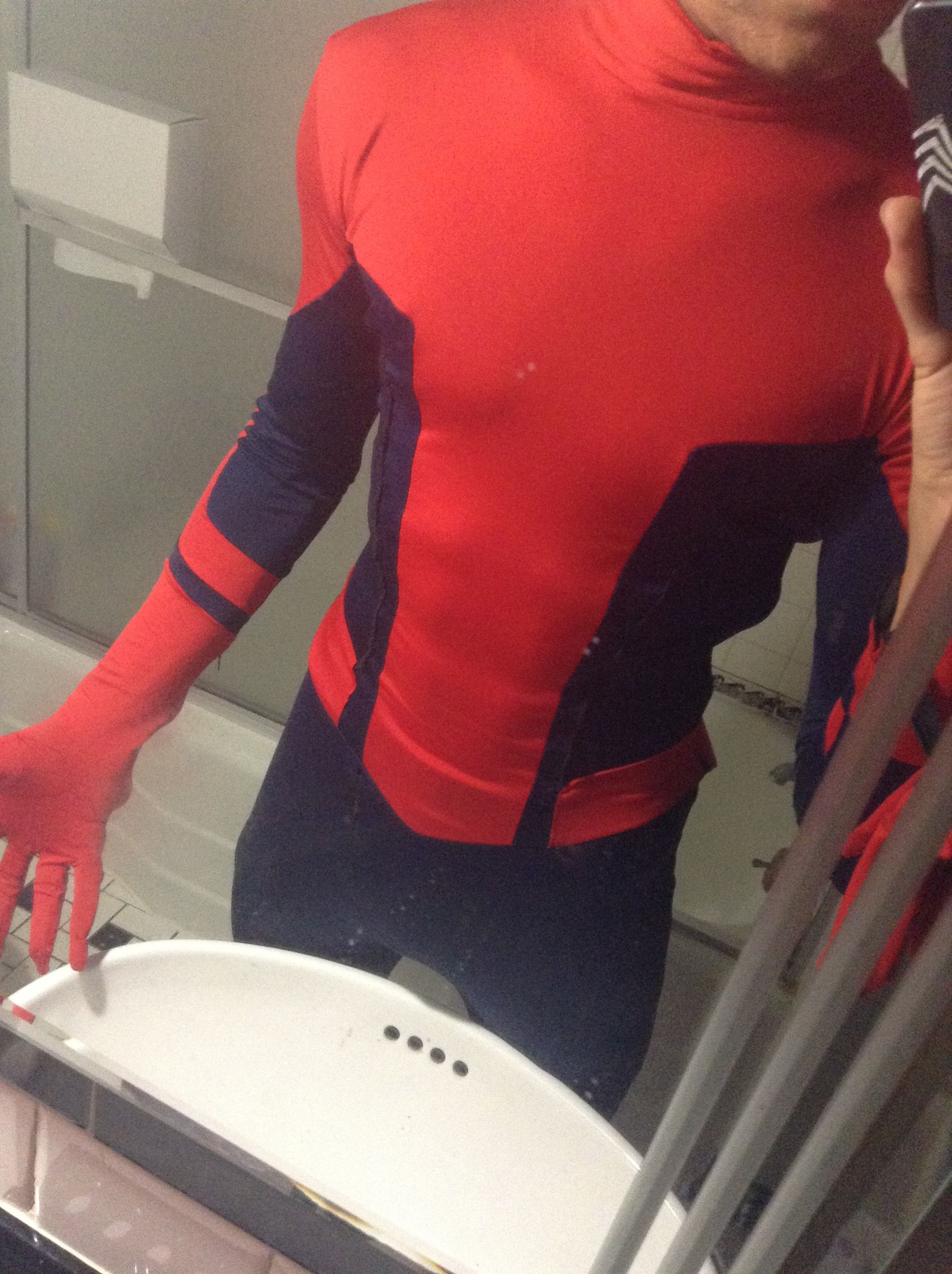 Iracel S Screen Printed Spiderman Costume Malcolm S Cool Stuff