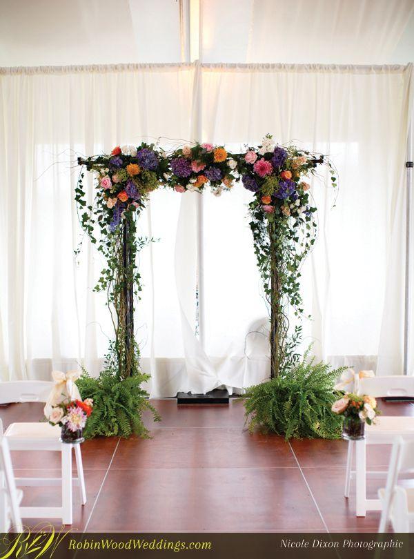 Natural wedding trellis trellis weddingflowers for Decorating a trellis for a wedding