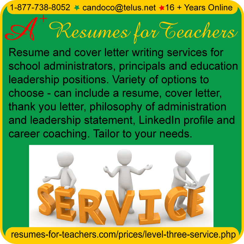 teachers resume writing services for principals administrators
