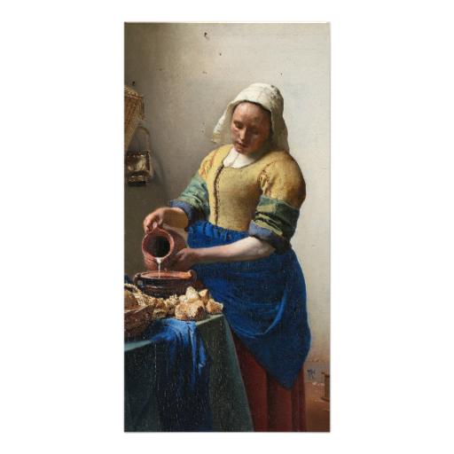 Johannes Vermeer: The Milkmaid by Johannes Vermeer Card | Zazzle.com.  The Milkmaid by Johannes Vermeer, ...