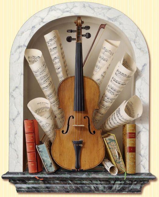 Радостные картинки, открытки с муз.инструментами