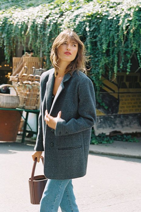 Manteau gris coupe masculine. Inspi mode petites tailles. Manteau gris  coupe masculine. Inspi mode petites tailles. Tendance Mode Automne Hiver  2017, 1c4cd0179f5