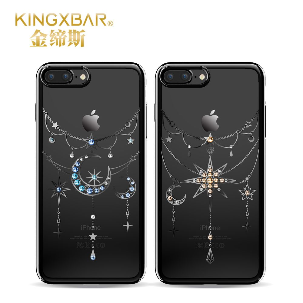 Original kingxbar crystals from swarovski stars moon