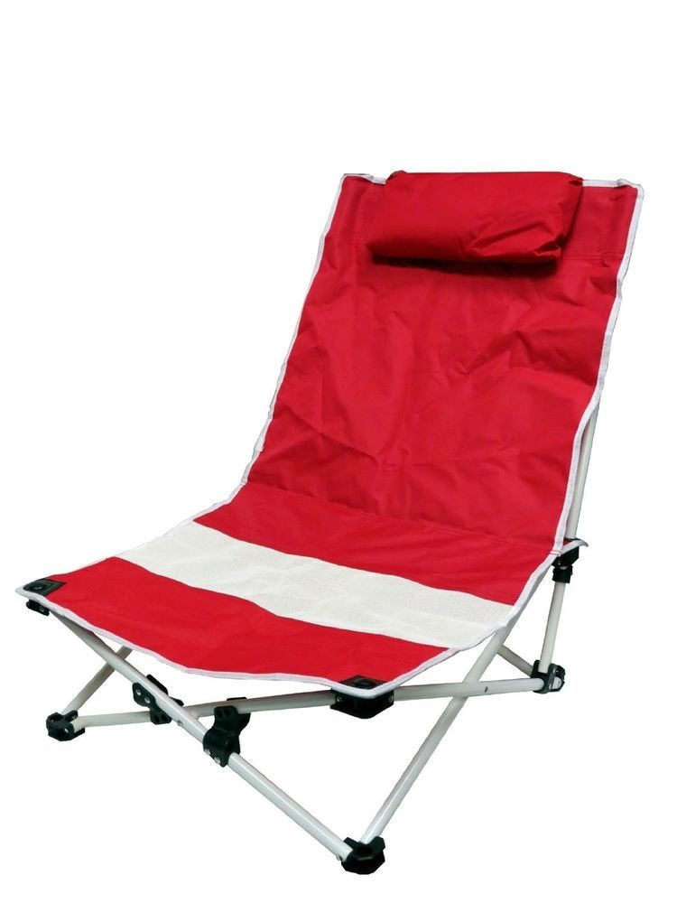 Red Folding Light Weight Beach Deck Patio Pool Camping Picnic