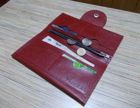 015959e174e2 Женское кожаное портмоне: выкройка и мастер класс по шитью   Кожа ...