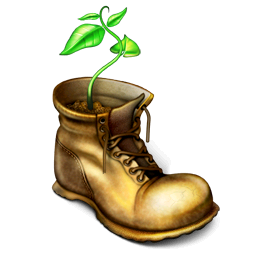 Wall E Plant In Boot Wall E Boots Disney Sleeve
