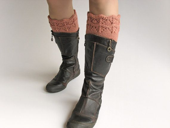 Hand Knitted Openwork Boot Cuffs  Boot Toppers Leg by milleta on Etsy www.etsy.com/shop/milleta