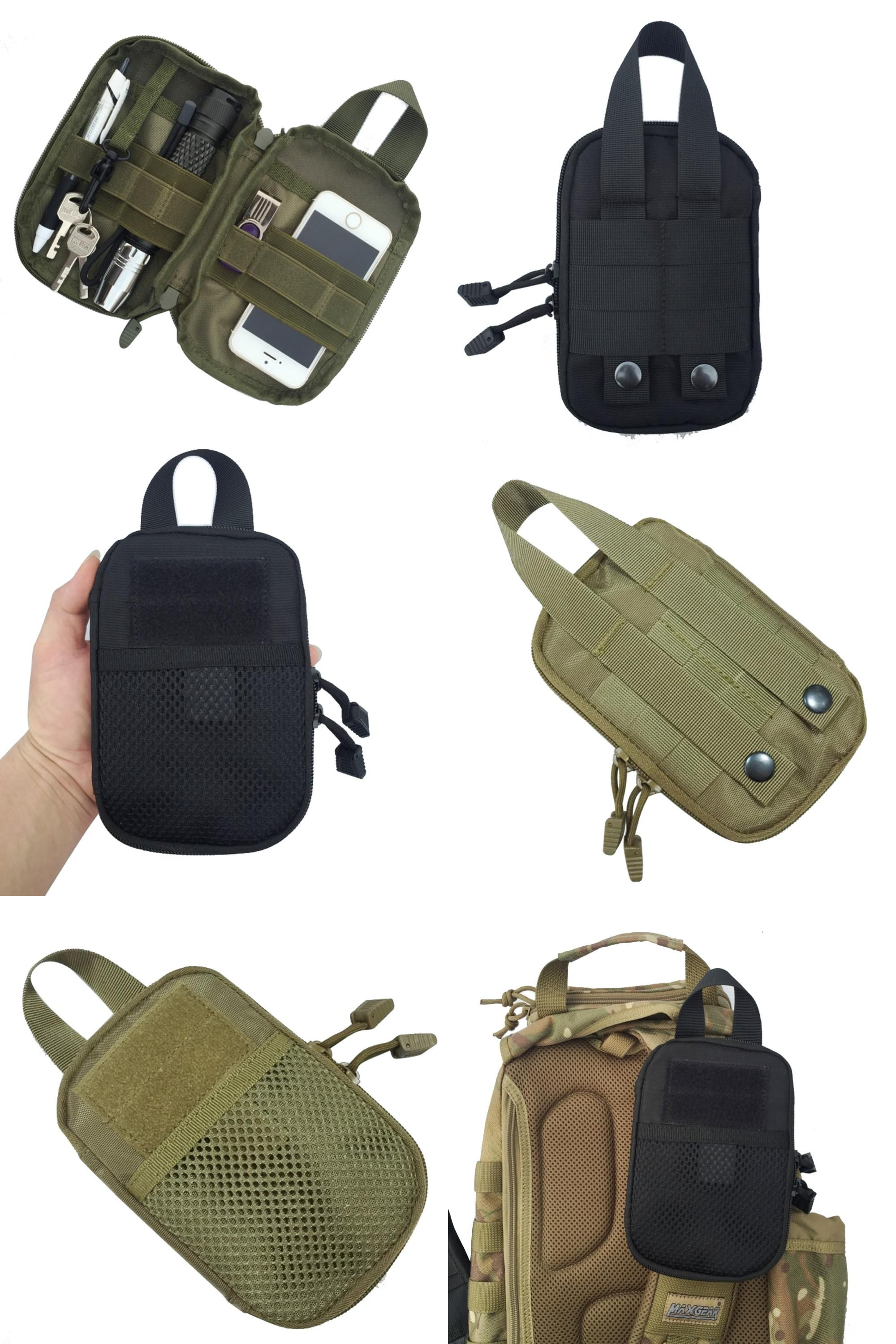 3f5786196654 Visit to Buy] 1000D Nylon Tactical Military EDC Molle Pouch small ...