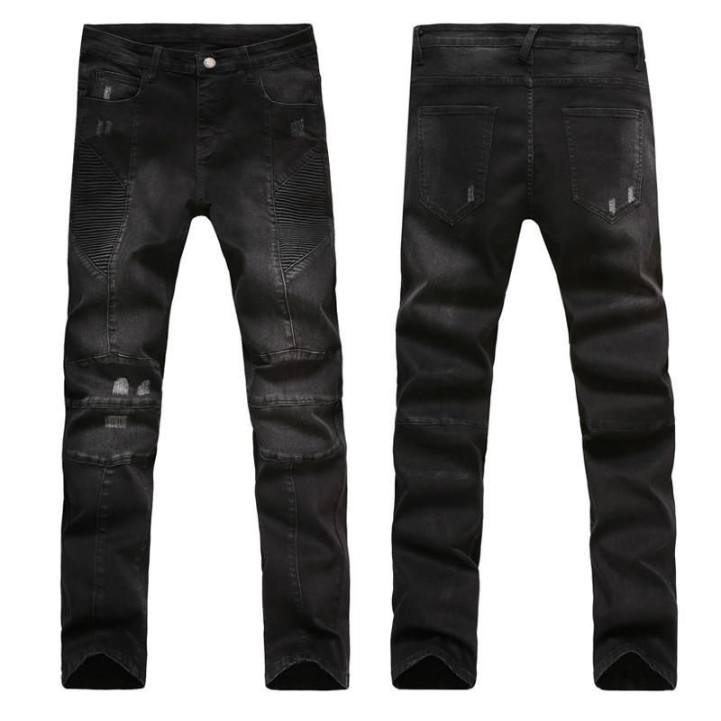 men's slim fit pants black