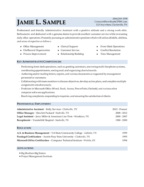 this is a really nice layout for an entry level office admin its main focus healthcare administrationresume builderdoor draftadministrative - Sample Administrative Resumes