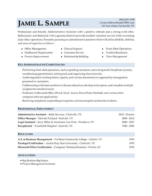 Entry Level Office Clerk Resume Sample
