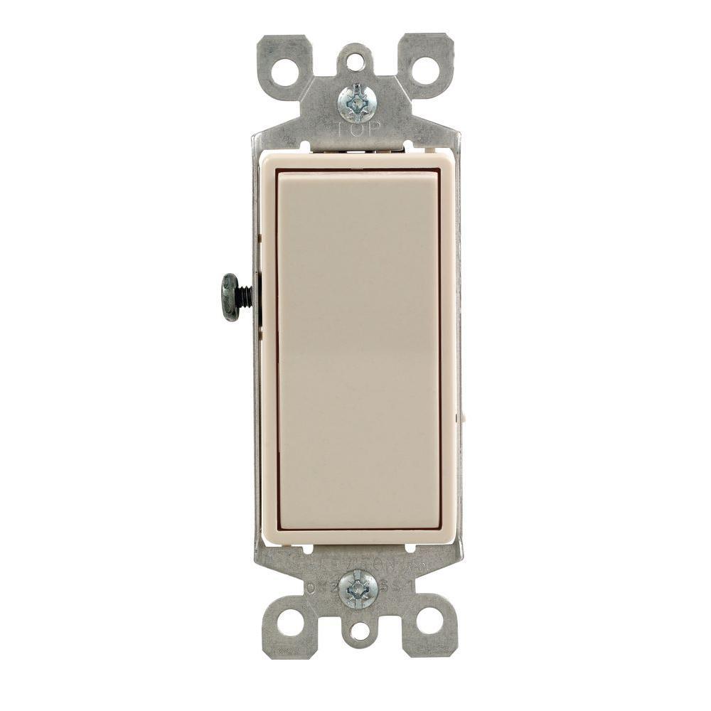 Leviton Decora 15 Amp Single Pole Ac Quiet Switch Light Almond R66 05601 2ts The Home Depot Leviton Decora Decora Switches