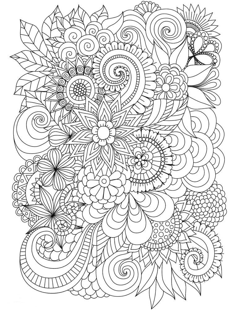 Disegni Di Spirale Fiori Da Colorare Mandala Da Colorare