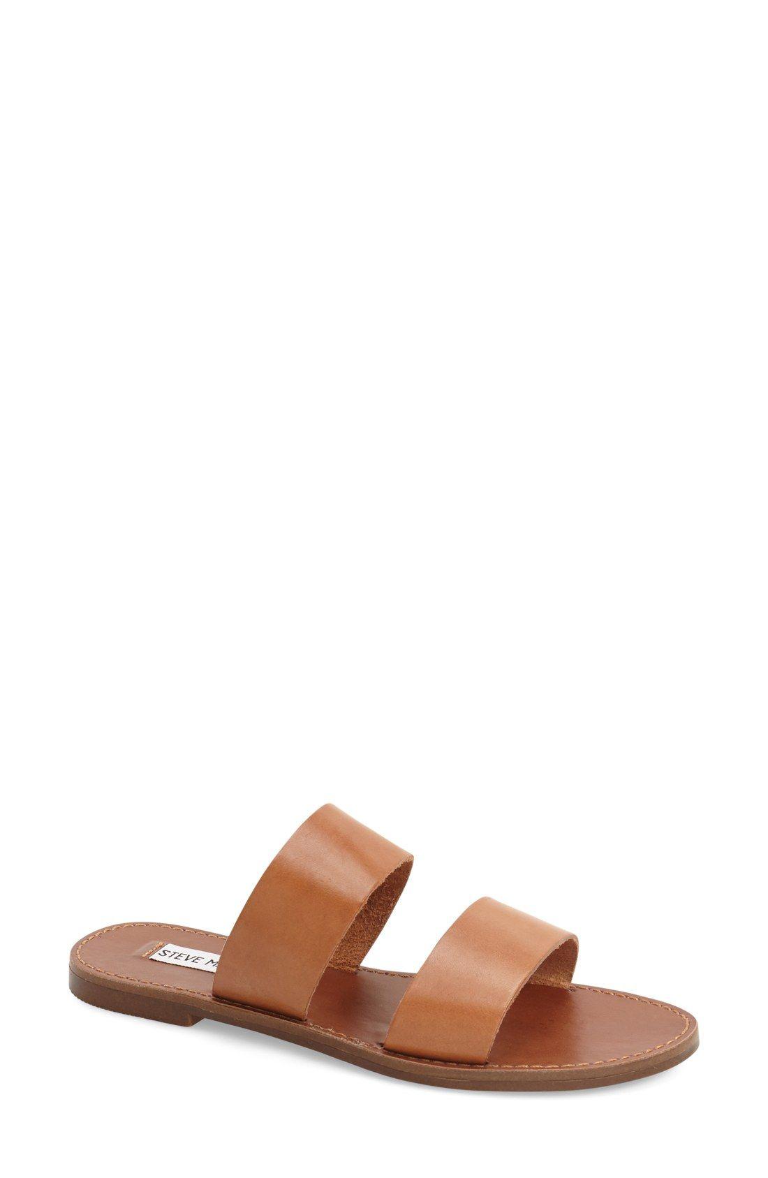 65548f7c1ae Steve Madden 'D-Band' Leather Slide Sandal (Women) | Nordstrom ...