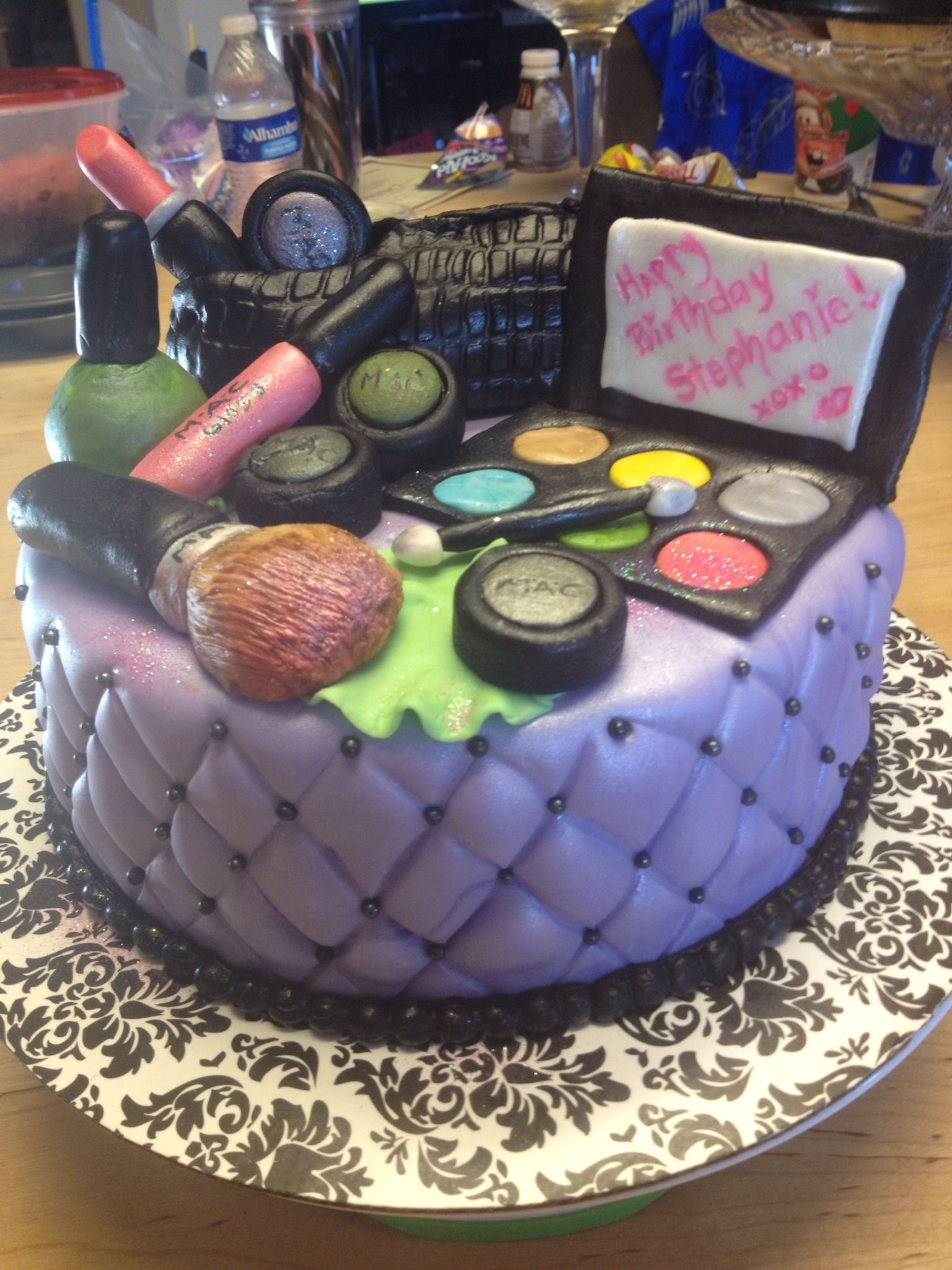 beauty schoo grad MAC makeup cake Make up cake, My