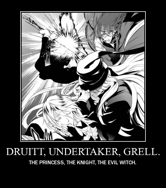 You're going to offend Grell. There are TWO princesses in this photo.
