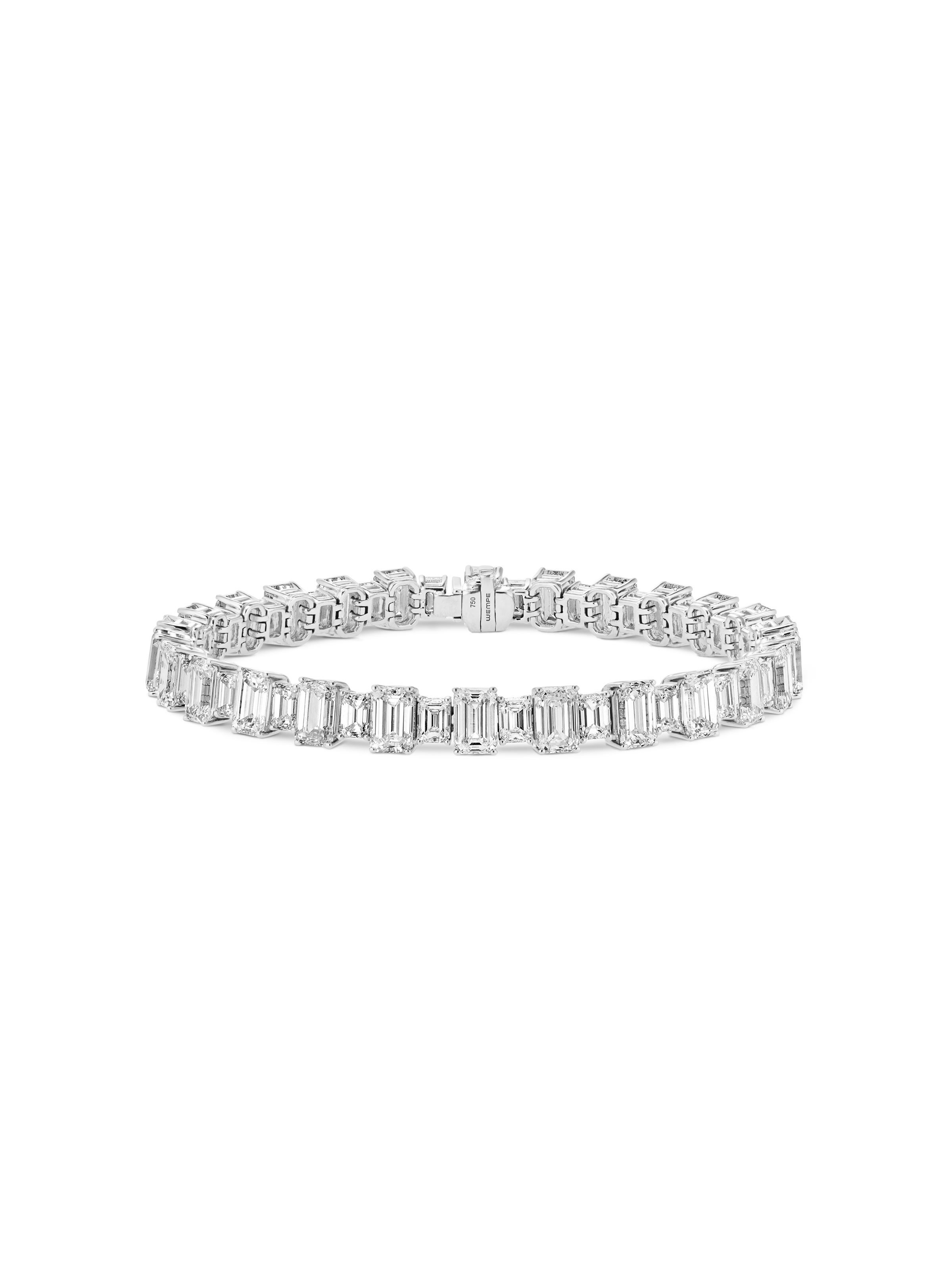 Wempe rivière tennis bracelet white gold diamonds cm a girls