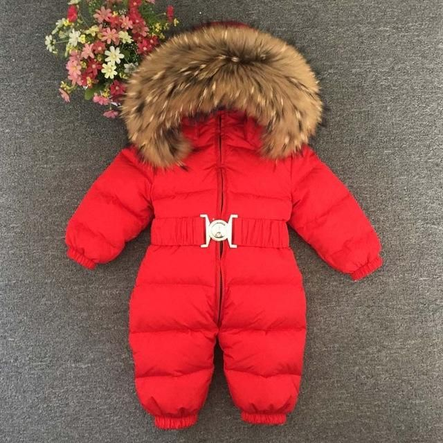1284e54a2ee9 Baby Snowsuit Winter Down Jacket with Fur Hood Regular price 170.00 ...
