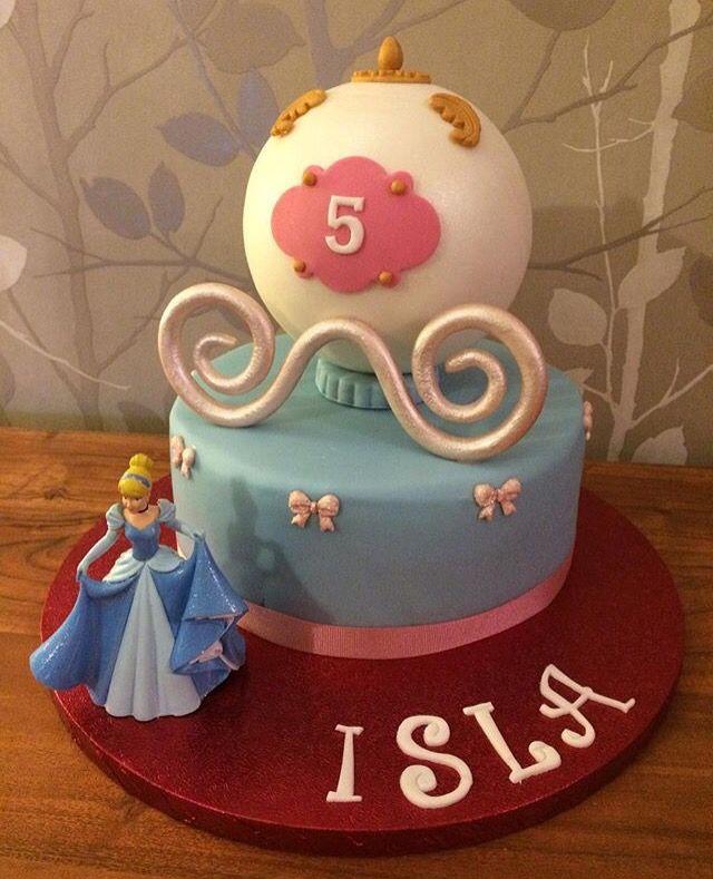 Cinderella Carriage Cake Disney Princess Girls 5th Birthday 3D