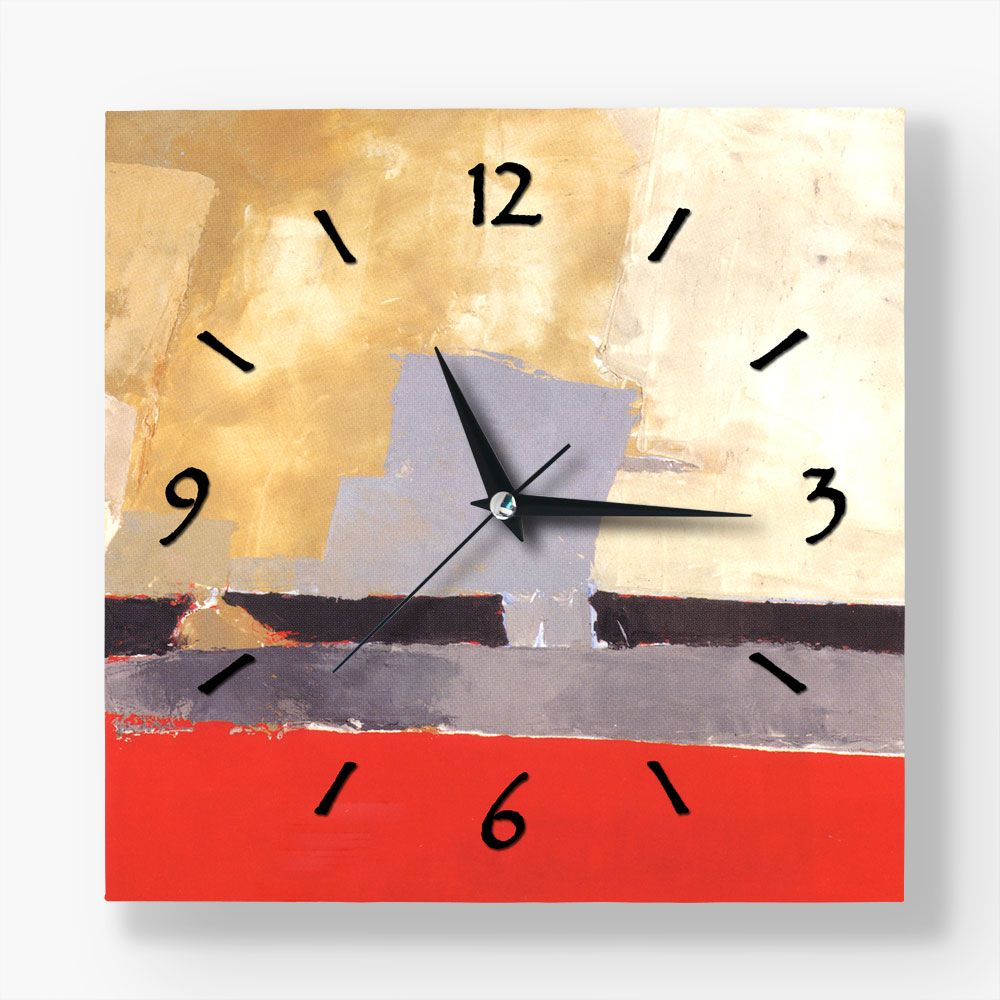 In red wall clock buy this canvas print wall clock from modarty in red wall clock buy this canvas print wall clock from modarty art gallery amipublicfo Image collections