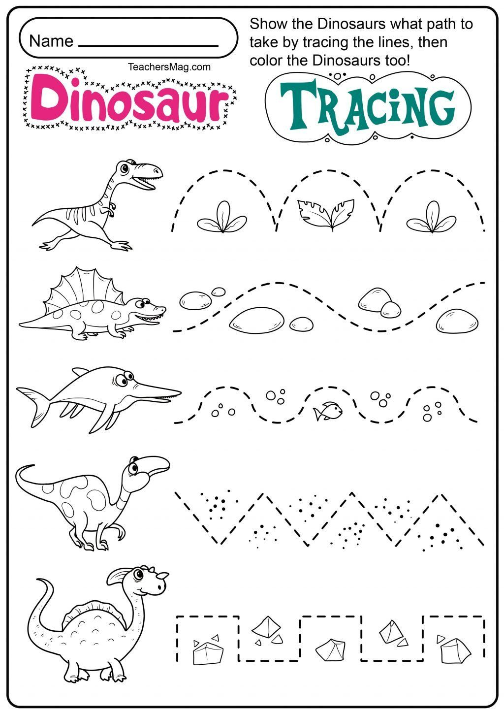 Line Tracing Worksheets For Preschool Worksheet Ideas
