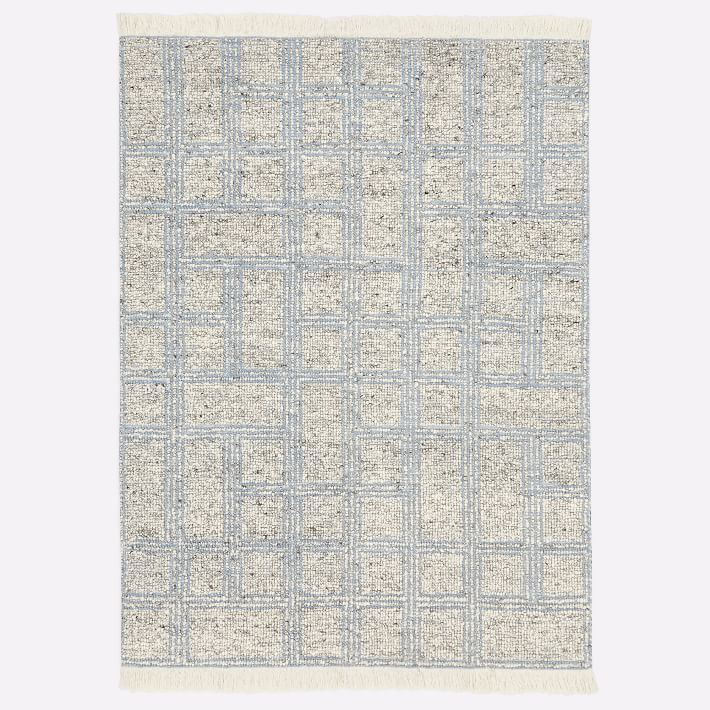 Stacked Squares Rug Blue Bird 9 X12 West Elm Square Rugs Rugs Rug Guide