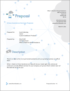 Executive Personal Assistant Sample Proposal | Sample
