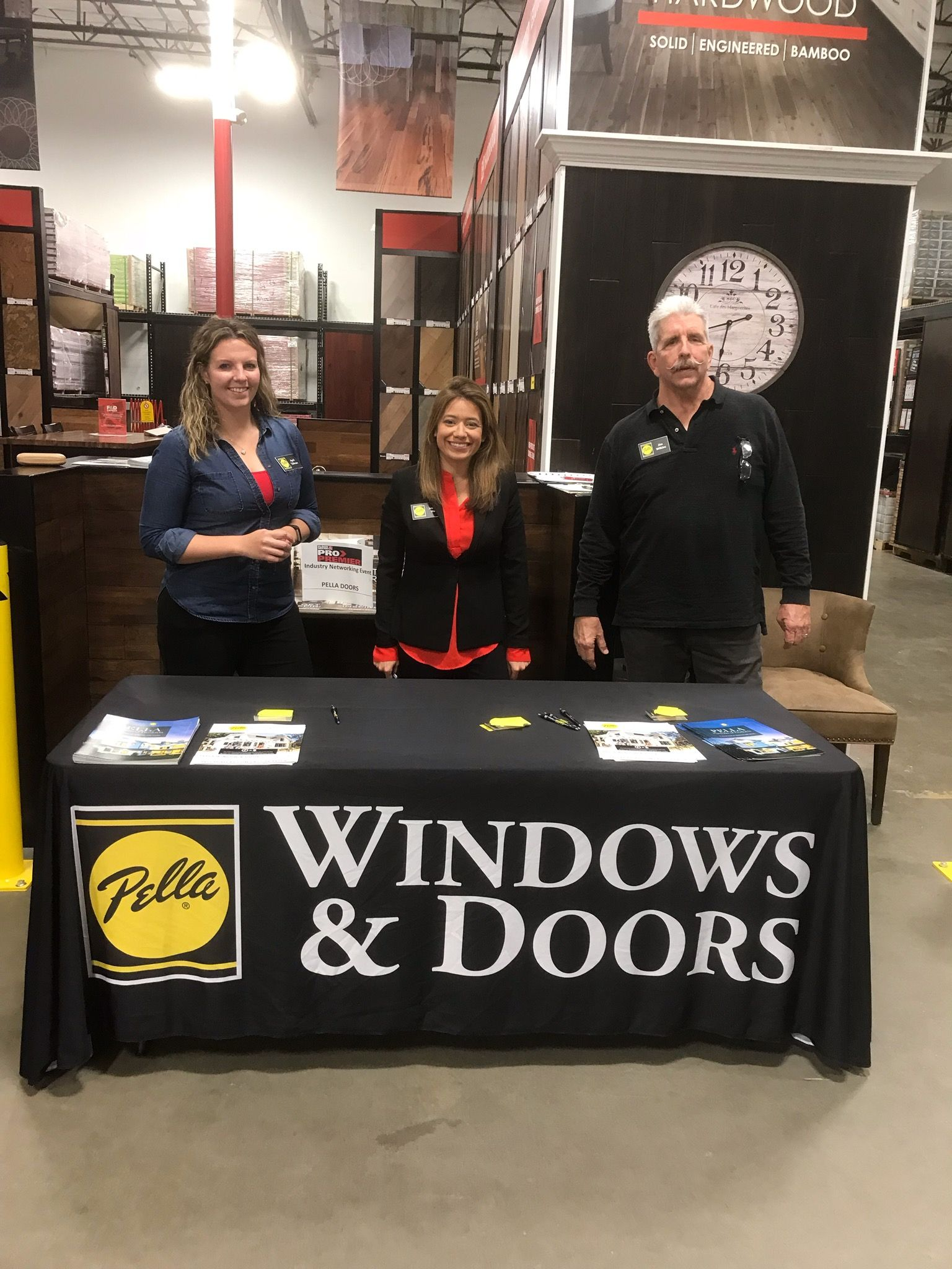Our Pella Team At The Contractor Networking Event At The Floor Decor Showroom In Plano Representing Our Team Well Showroom Decor Pella Floor Decor