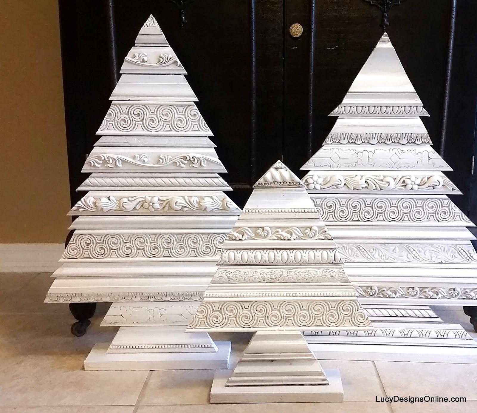 Arte del árbol de Navidad Esculturas Uso decorativo Moldeo y ...
