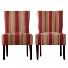 dunley fabric slipper chair set of 2 craaftsman style