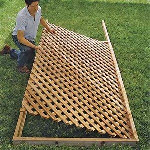 How To Build A Trellis Yard Divider Building A Trellis Lattice
