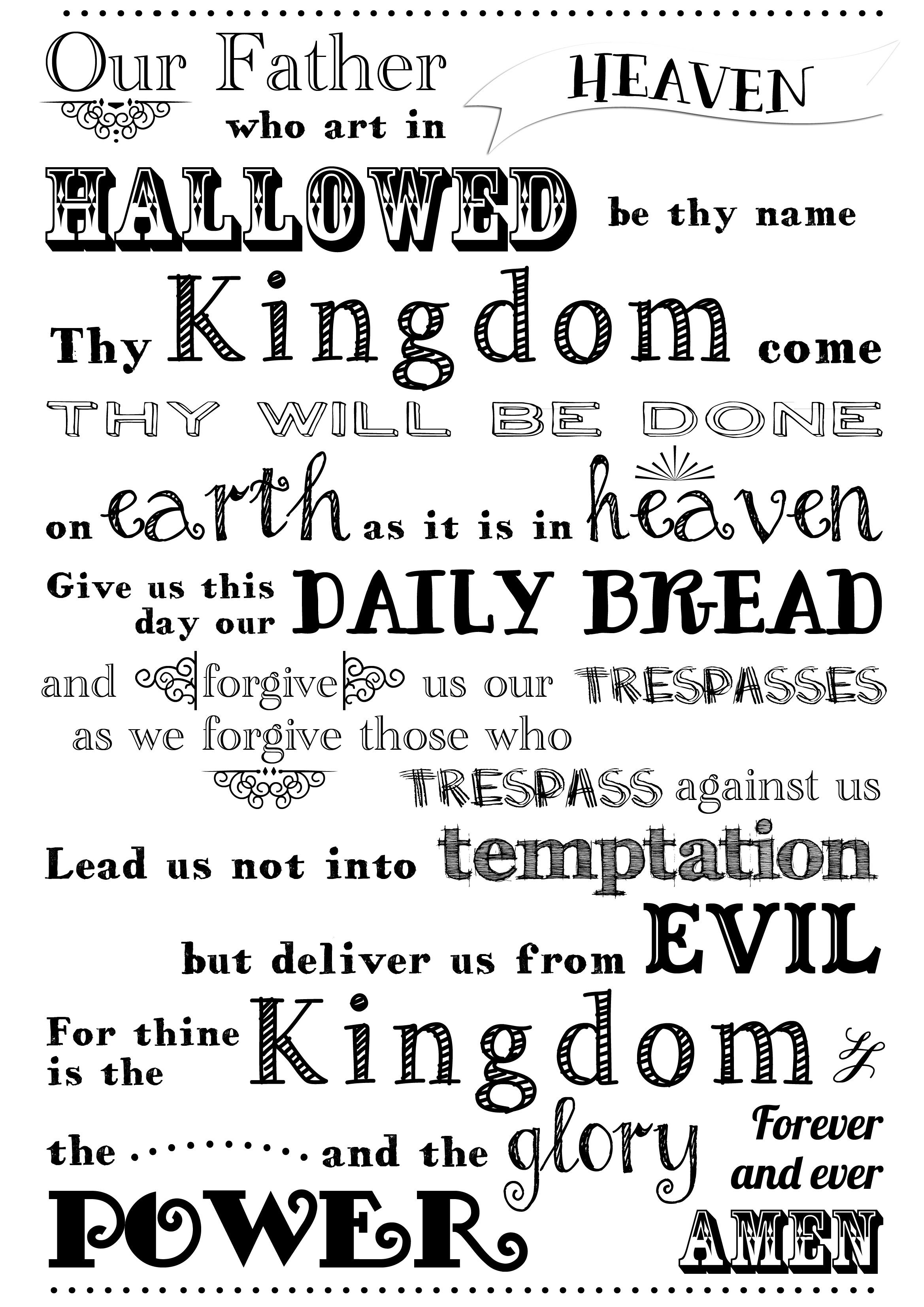Images Of The Lord S Prayer