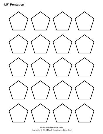 A printable pentagon template sheet quilts