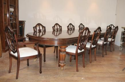 Victorian Dining Table Set 10 Federal Chairs Suite  Antique Table Beauteous Dining Room Set For 10 Decorating Inspiration