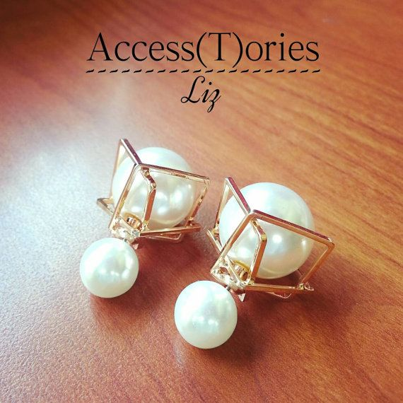 Double Sided Earrings Classic Dior Style By