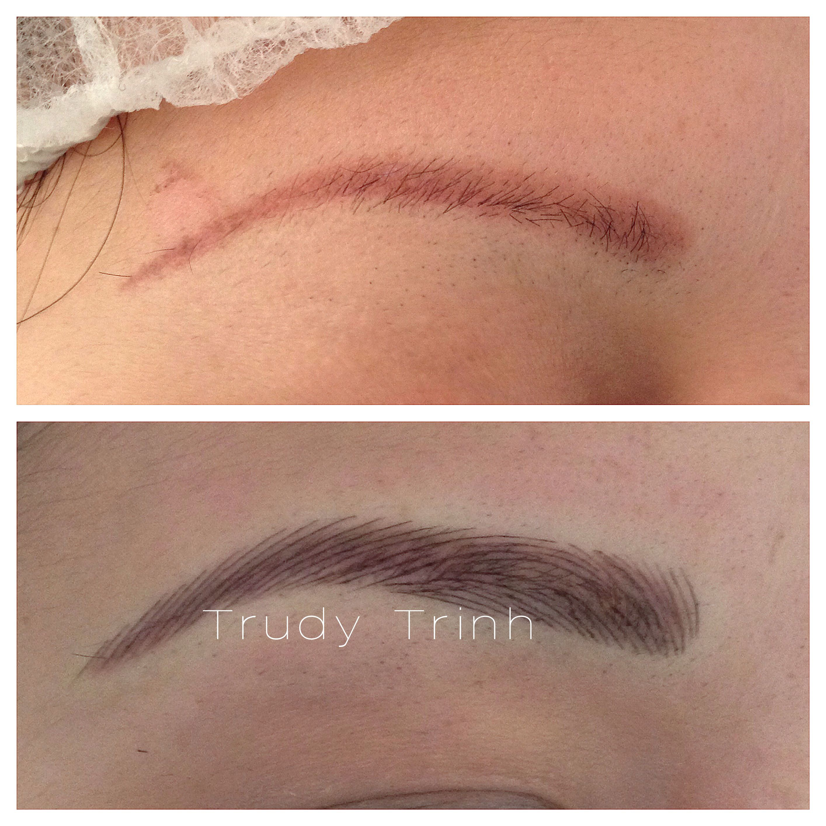 Giving old brows new life trudy 39 s specialized for Eyebrow tattoo microblading