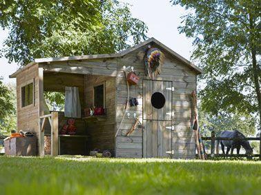 Merveilleux Cabane Bois Brut Façon Ranch Chez Leroy Merlin 400u20ac Pour Les Enfants