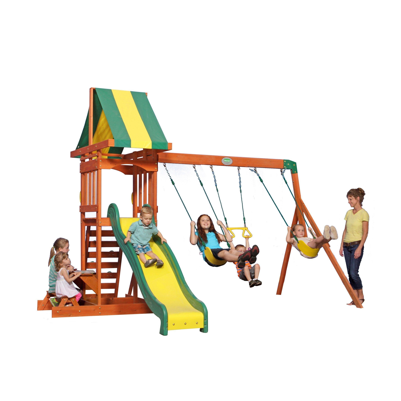 Aire De Jeux Bois Sunnydale H 284 4 Cm En 2020 Aire De Jeux Bois Aire De Jeux Et Jeux En Bois