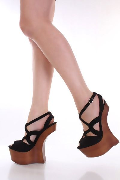9f7a21aac0 Black Faux Suede Peeptoe Strappy Wooden Platform Curved Wedges @  Amiclubwear Wedges Shoes Store:Wedge Shoes,Wedge Boots,Wedge Heels,Wedge  Sandals,Dress ...