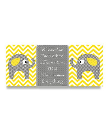 Take a look at this Yellow Elephants Love Trio Wall Plaque Set by Stupell Industries on #zulily today!