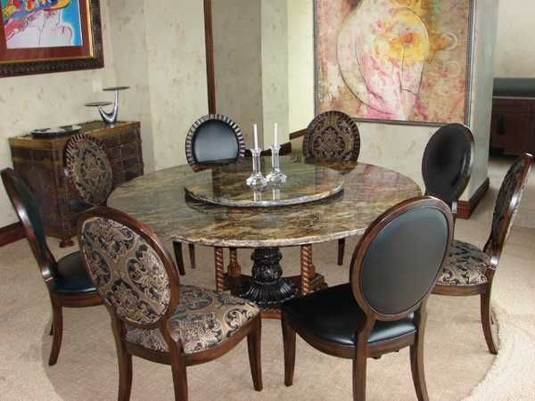 Granite Dining Room Furniture Delectable Dining Room Tablecloths Granite Top Dining Table Dark Wood Dining Design Inspiration