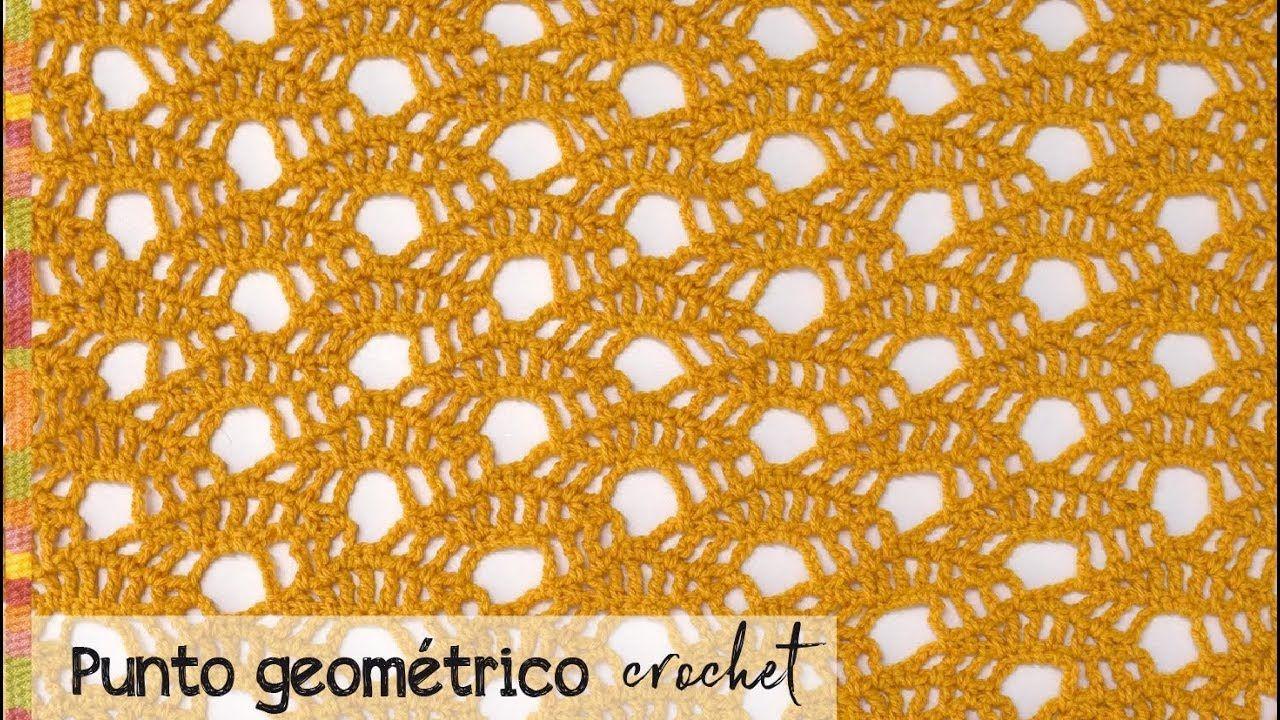 Punto Geométrico Reversible Tejido A Crochet Tejiendo Perú