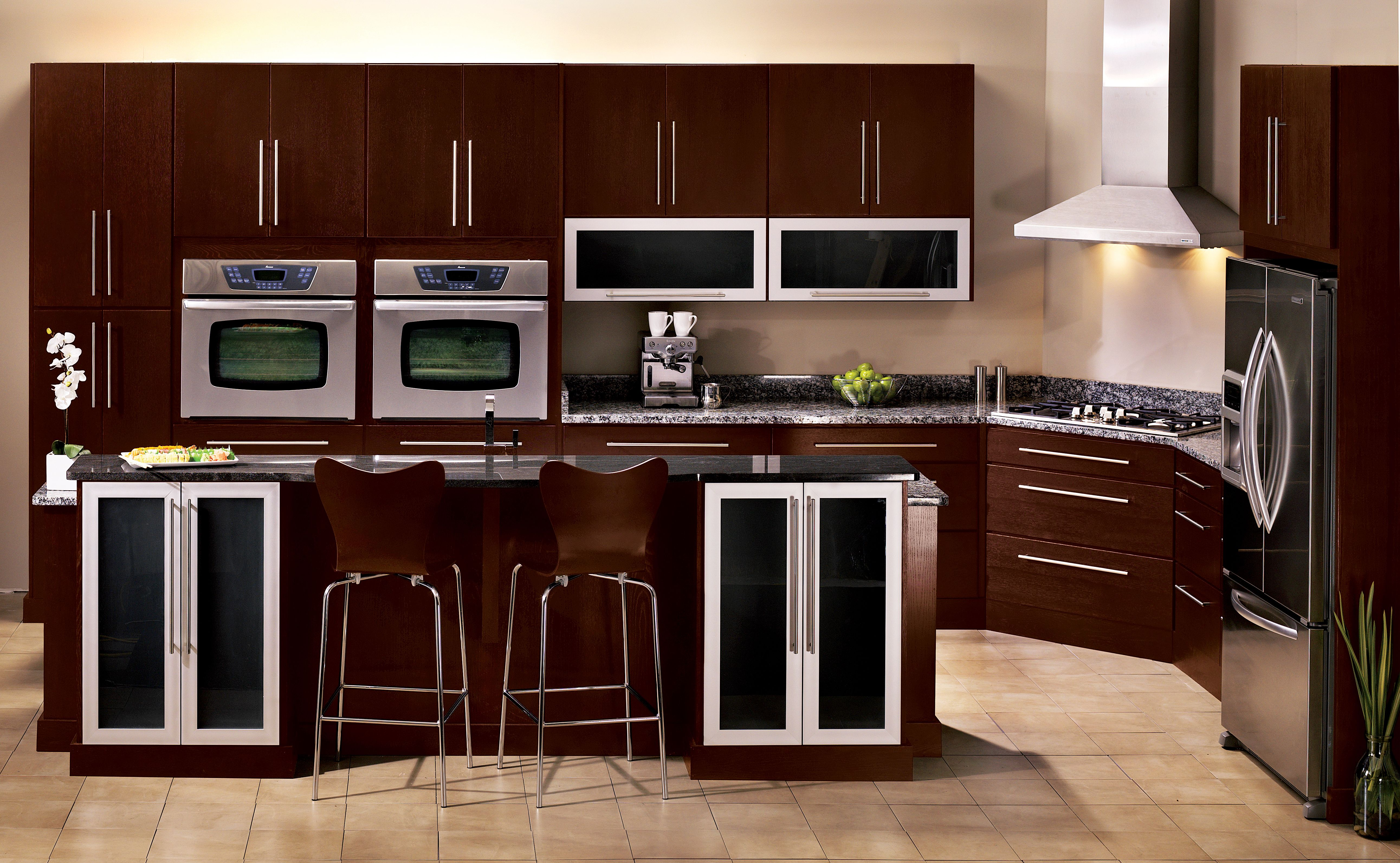 Kabinart Kitchen In Espresso Kitchen Acrylic Cabinets Cabinet Doors