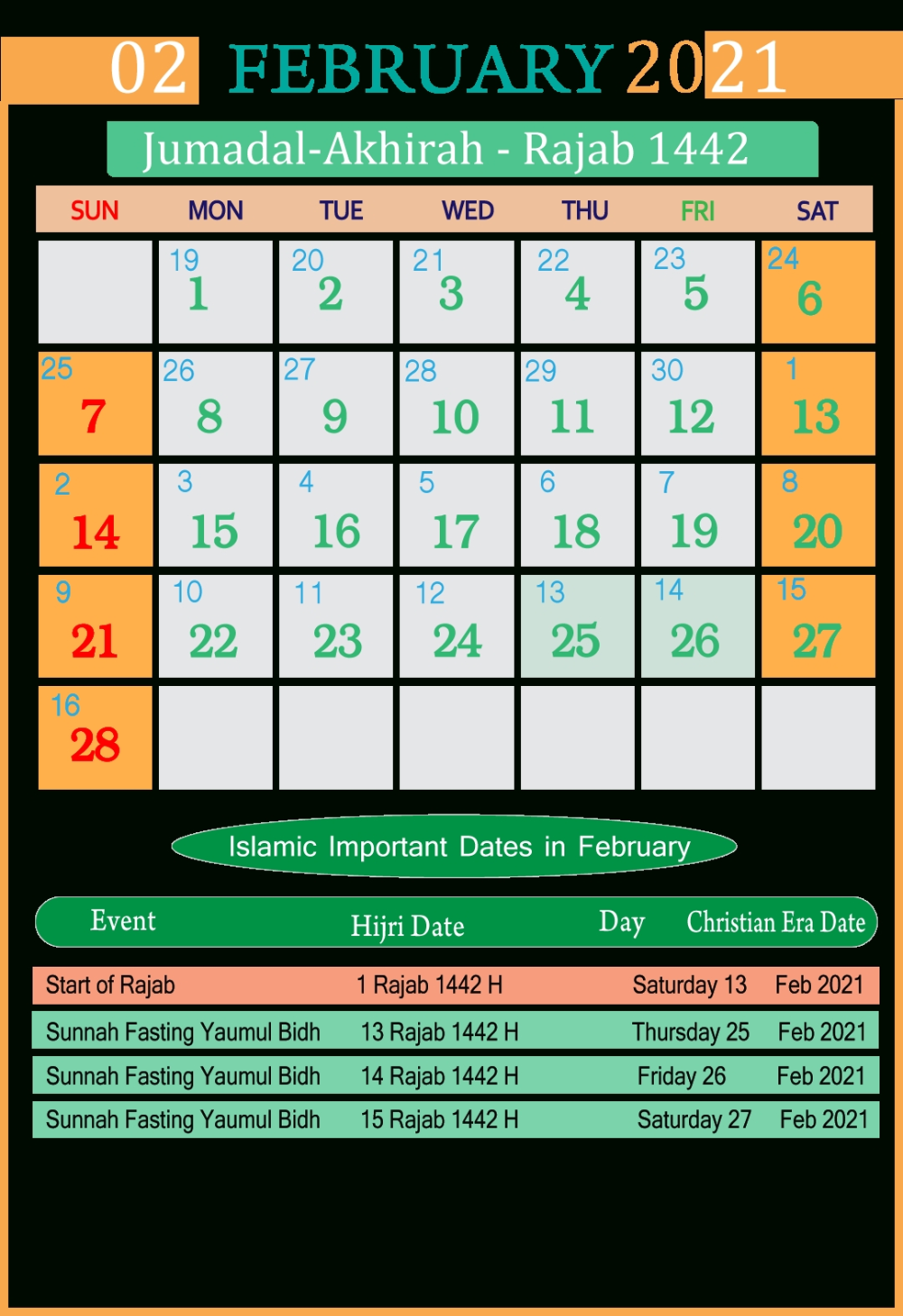 Islamic Calendar 2019 Holidays In Pakistan