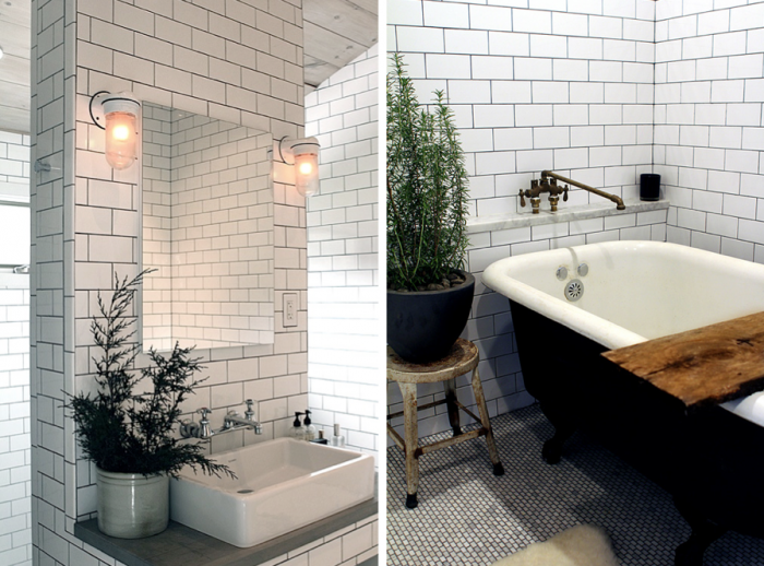 Bathroom Floor To Roof Charcoal Tiles With A Black: Dark Grout With White Subway Tile. The Unfun Thing About
