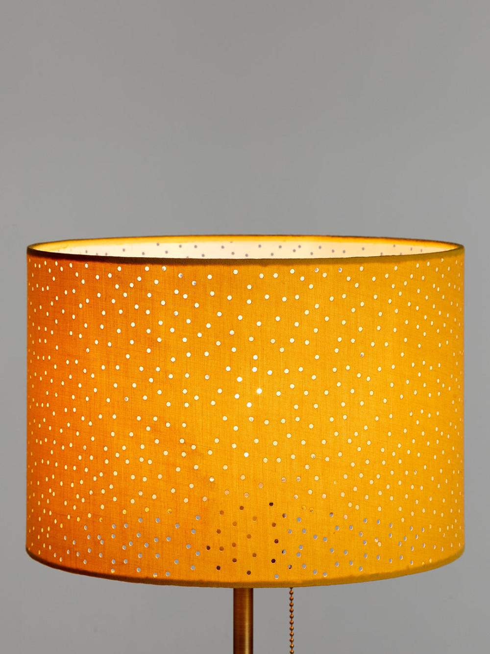 John Lewis Partners Alice Pierced Lampshade Sulphur In 2020 Modern Lamp Ceiling Lamp Shades Drum Lampshade
