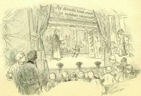 Loutkove Divadlo M Kopeckeho Kresba Mikolase Alse Repro Archiv