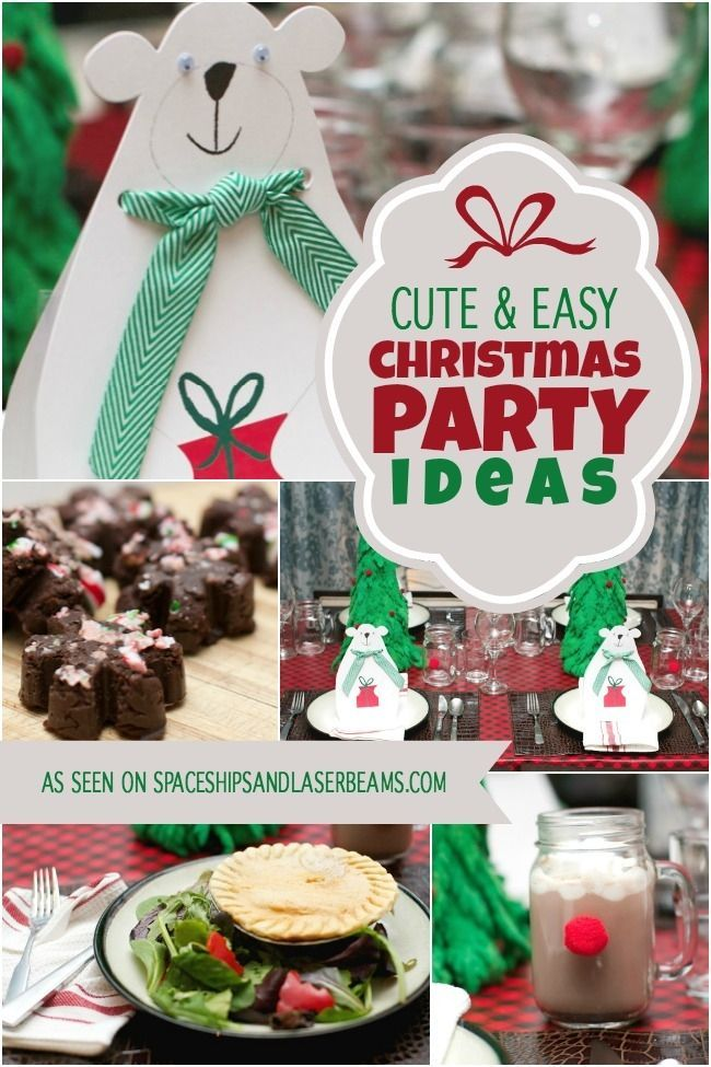 Easy Christmas Party Ideas Part - 17: Cute U0026 Easy Christmas Party Ideas {Marie Callenderu0027s Pot Pies + Candy Cane  Fudge}